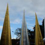 Gold & Silver Cone - Event Decoration - 7theaven